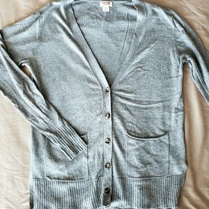 Mossimo cotton v-neck cardigan in gray